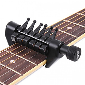 cheap Instrument Accessories-Guitar Capo Plastic Guitar Acoustic Guitar Electric Guitar Fun Black Spider Capo Musical Instrument Accessories for Music Lovers and Trainers