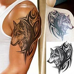 halpa Siirtotatuoinnit-3 kpl väliaikaisia tatuointeja tatuointimalleja tatuointitarroja vedenpitävä / 3d vartalo / olkapää / jalka paperitatuointitarroja f-047