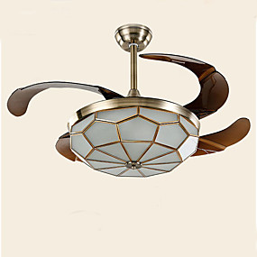 cheap Ceiling Lights & Fans-1-Light 107 cm LED Flush Mount Lights Metal Glass Electroplated Modern Contemporary 110-120V / 220-240V