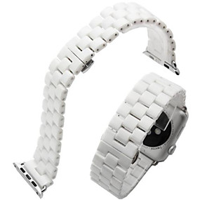 cheap Smartwatch Bands-Watch Band for Apple Watch Series 6 SE 5 4 3 2 1  Apple Butterfly Buckle Ceramic Wrist Strap