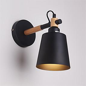 povoljno Lámpatestek-drvo umjetnost deco metalni rustikalni zid spavaonica dnevni boravak blagovaonica hodnik zidna svjetiljka crna bijela izborno