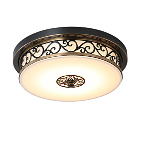 cheap Ceiling Lights & Fans-LightMyself™ 30 cm Flush Mount Lights Metal Bronze Vintage Traditional / Classic Country 110-120V 220-240V