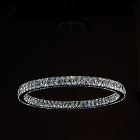 cheap Ceiling Lights & Fans-1-Light 70 cm Crystal / LED Chandelier Metal Circle Electroplated Modern Contemporary 90-240V