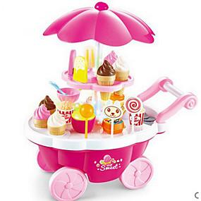 cheap Dress Up & Pretend Play-Ice Cream Cart Toy Toy Food / Play Food Pretend Play Food&Drink Ice Cream Dessert Child Safe Kid's Toddler Girls' Toy Gift 39 pcs