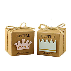 preiswerte Big Heard Love®-kubisch Kartonpapier Geschenke Halter mit Bänder Geschenkboxen - 50
