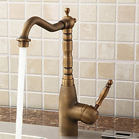 cheap Kitchen Faucets-Lightinthrbox  Sprinkle® Kitchen Faucets - Antique Polished Brass Centerset One Hole