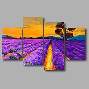 preiswerte Aufgespannte Leinwandrucke-Druck Aufgespannte Leinwandrucke - Abstrakt Landschaft Modern Vier Panele Kunstdrucke