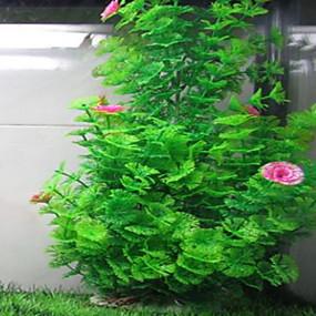 cheap Aquarium Décor & Gravel-Fish Tank Aquarium Decoration Waterplant Artificial Plants Yellow Non-toxic & Tasteless Plastic 1 pc