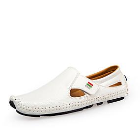preiswerte Sapatos-Herrn Komfort Schuhe PU Frühling / Sommer Loafers & Slip-Ons Schwarz / Weiß / Dunkelblau / Party & Festivität / Normal / Party & Festivität / EU40
