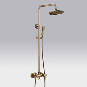 cheap Faucets/Shower System/Kitchen Tap-Shower Faucet - Antique / Country / Modern Antique Copper Centerset Ceramic Valve / Brass / Single Handle One Hole Bath Shower Mixer Taps