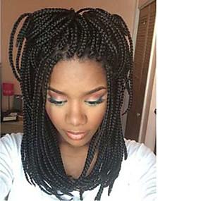 preiswerte Eunice hair®-Synthetische Lace Front Perücken Glatt / Wellen Kardashian Stil Spitzenfront Perücke Schwarz Dunkelbraun Synthetische Haare Damen Natürlicher Haaransatz / Afro-amerikanische Perücke / Geflochtene