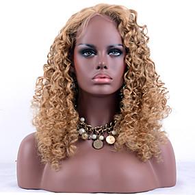 ราคาถูก Short Style Lace Wigs-ผม Remy ลูกไม้หน้าไม่มีกาว มีลูกไม้ด้านหน้า วิก สไตล์ ผมบราซิล Kinky Curly วิก 130% Hair Density ผมเด็ก เส้นผมธรรมชาติ วิกผมแอฟริกันอเมริกัน 100% มือผูก สำหรับผู้หญิง Short ขนาดกลาง ยาว วิกผมแท้