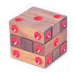 preiswerte Rätselspiele-Holzpuzzle Knobelspiele Luban Geduldspiel Spaß Intelligenztest Klassisch Unisex Spielzeuge Geschenk