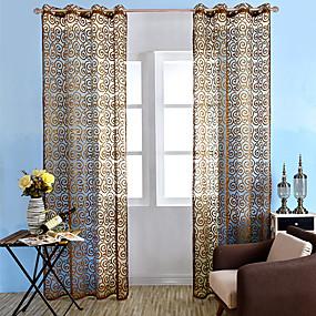 preiswerte Vorhänge und Gardinen-Landhaus Stil Gardinen Shades Ein Panel Durchsichtig Wohnzimmer   Curtains