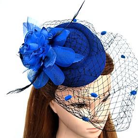 povoljno Melbourne Cup Carnival Hats-Perje / Net Fascinators / Cvijeće / kape s Cvjetni print 1pc Vjenčanje / Special Occasion / Čajanka Glava