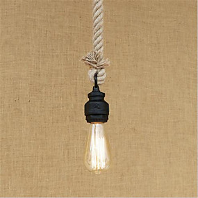 povoljno Viseća rasvjeta-Privjesak od konopca s privjeskom svjetlo ambijentalno oslikana završava metalnim mini stilom, dizajneri 110-120v / 220-240v uključeni žarulja / e26 / e27