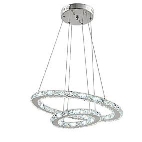 povoljno Viseća rasvjeta-Cirkularno Privjesak Svjetla Ambient Light Electroplated Metal Crystal, Zatamnjen, LED 110-120V / 220-240V Uključen je LED izvor svjetlosti / Integrirano LED svjetlo
