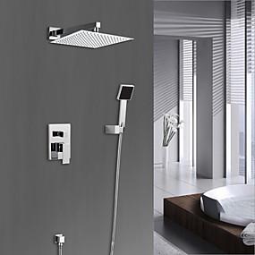 preiswerte Armaturen-Duscharmaturen - Modern Chrom Duschsystem Keramisches Ventil Bath Shower Mixer Taps / Messing / Einhand-Vierloch