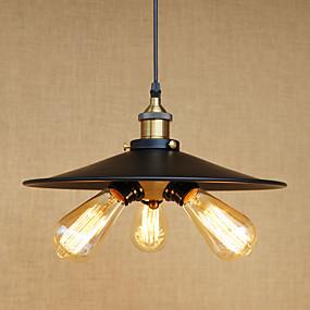 povoljno Viseća rasvjeta-3-Light Privjesak Svjetla Ambient Light Slikano završi Metal Mini Style, dizajneri 110-120V / 220-240V Bulb Included / E26 / E27