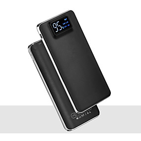 cheap Universal Accessories-20000mAh 5V 2A Portable Powerbank Charger Flashlight with LED Smart Digital Display External Battery Charger for Mobile Phone