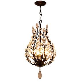 povoljno Lámpatestek-LightMyself™ 4-Light Kristal Lusteri Ambient Light Crn Metal Crystal, Mini Style 110-120V / 220-240V / E12 / E14