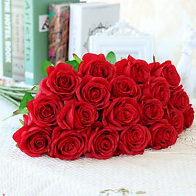 billige Patio-Kunstige blomster 10 Afdeling Europæisk Stil Roser Bordblomst