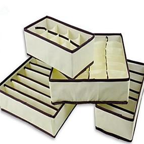 preiswerte Aufbewahrung & Organisation-4 stücke hause aufbewahrungsbox bins unterwäsche organizer box bh krawatte socken lagerung organizer