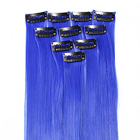 preiswerte Neitsi®-Neitsi Klassisch Synthetische Haare 18 Zoll Haar-Verlängerung Mit Clip 1pack Damen Alltag