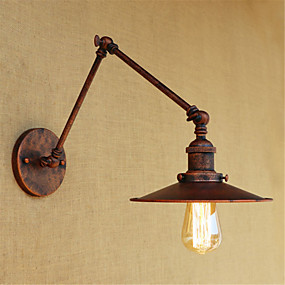 cheap Indoor Wall Lights-Rustic / Lodge / Country / Retro Swing Arm Lights Metal Wall Light 110-120V / 220-240V 40W