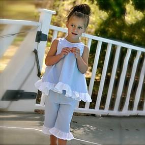 voordelige 2020 Trends-Peuter Meisjes Gestipt Strik Dagelijks Uitgaan Strand Effen Polka dot Mouwloos Normaal Normaal Katoen Kledingset Blozend Roze