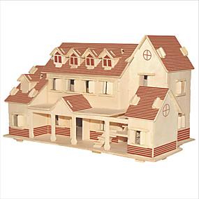 preiswerte 3D-Puzzles-Bausteine 3D - Puzzle Holzpuzzle Bildungsspielsachen Berühmte Gebäude Chinesische Architektur Haus Heimwerken 1pcs Kinder Herrn Damen
