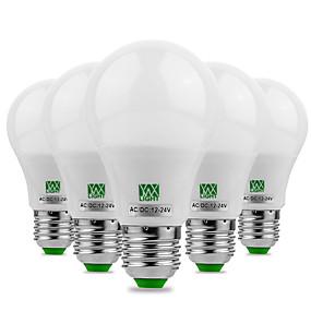billige Globepærer med LED-ywxlight® 5pcs e27 / e26 5730smd 5watts 10led varm hvit, kald hvit ledd ingen flimmer høy lysstyrke LED-lampe 12v 12-24v