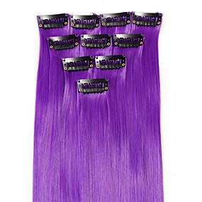 preiswerte Neitsi®-Neitsi Klassisch Synthetische Haare 18 Zoll Haar-Verlängerung Mit Clip Damen Alltag