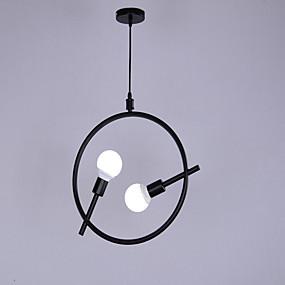 povoljno Viseća rasvjeta-2-Light Linear Privjesak Svjetla Ambient Light Slikano završi Metal Mini Style 110-120V / 220-240V Bulb not included / E26 / E27
