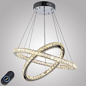 povoljno Lámpatestek-Privjesak Svjetla Ambient Light Electroplated Metal Crystal, Zatamnjen, LED 110-120V / 220-240V Uključen je LED izvor svjetlosti / Integrirano LED svjetlo