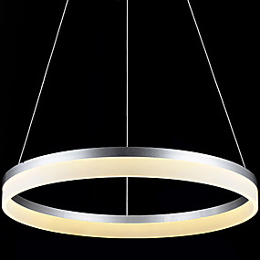cheap Ceiling Lights & Fans-1-Light 100 cm LED Chandelier Metal Acrylic Circle Others Modern Contemporary 90-240V