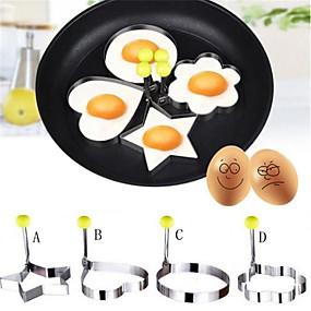 preiswerte Super Sale-4 stücke neue design vier formen edelstahl spiegeleiformer pfannkuchenform küche kochen werkzeuge