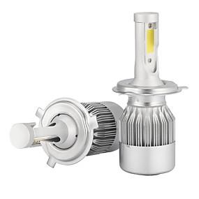 billige Spesialtilbud-2pcs H4 Bil Elpærer 36W/pcs*2 W COB 3600 lm LED Hodelykt Til