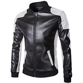 baratos Oferta Especial-18LBY6FH Roupa da motocicleta Jaqueta para PU Leather Todas as Estações A Prova de Ventos