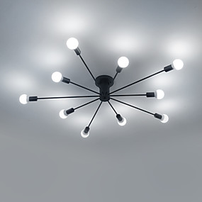 povoljno Vintage Rasvjeta-10-Light sputnjik Flush Mount Ambient Light Slikano završi Metal Mini Style 110-120V / 220-240V Meleg fehér / Bijela Bulb not included / E26 / E27
