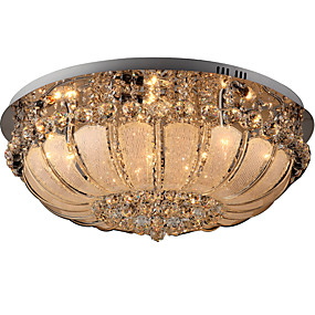cheap Ceiling Lights & Fans-9-Light 60 cm Crystal / Mini Style Flush Mount Lights Metal Glass Others Modern Contemporary 110-120V / 220-240V / E12 / E14