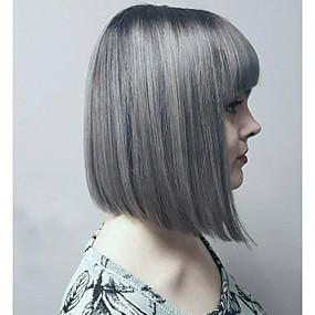 preiswerte Tres Jolie®-Synthetische Perücken Wellen Wellen Perücke Grau Synthetische Haare Grau