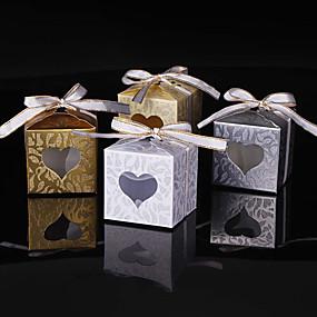 preiswerte Big Heard Love®-kubisch Kartonpapier Geschenke Halter mit Glitter / Band-Bindung Geschenkboxen
