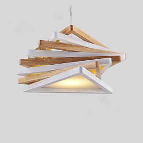 povoljno Viseća rasvjeta-Geometrijski oblici Privjesak Svjetla Downlight Drvo Wood / Bamboo Mini Style, dizajneri 110-120V / 220-240V Bulb Included / E26 / E27
