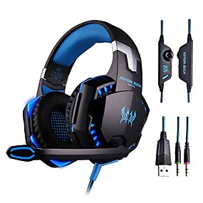 cheap Gaming Tribe-LITBest Gaming Headset Wired Luminous with Microphone with Volume Control HIFI for Gaming