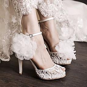 levne Větší obuv-Dámské Boty PU Jaro Pohodlné Sandály pro Ležérní Bílá
