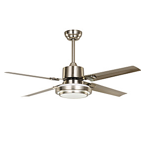 cheap Ceiling Lights & Fans-1-Light Ecolight™ 130 cm LED / Designers Ceiling Fan Metal Nickel Vintage / Country 220-240V
