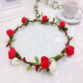 preiswerte Party Zubehör-Schaum Stirnbänder Blumen Kränze Kopfschmuck klassischen weiblichen Stil