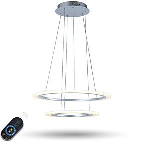 preiswerte Befestigungen für Beleuchtung-Pendelleuchten Raumbeleuchtung Galvanisierung Metall Acryl Abblendbar, LED, Dimmbar mit Fernbedienung 110-120V / 220-240V Dimmbar mit Fernbedienung LED-Lichtquelle enthalten / integrierte LED