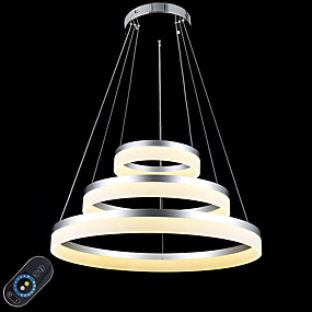 cheap Dimmable Ceiling Lights-60 cm Dimmable / LED / Dimmable With Remote Control Pendant Light Metal Acrylic Circle Painted Finishes Modern Contemporary 110-120V / 220-240V